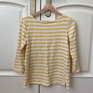 Yellow striped Old Navy Top